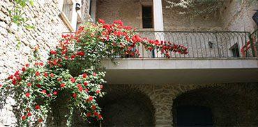 Terrasse vue du jardin
